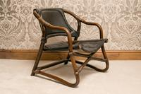 Rohe Noorwolde 1960's Bamboo & Leather Salon Chair