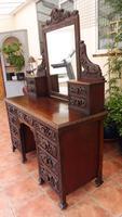 Country Oak Italian Dressing Table Cherubs c.1860 (9 of 12)