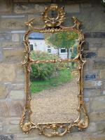 Stunning Twin Plate Rococo Mirror 19th Century (8 of 8)