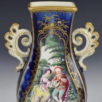 Chelsea Porcelain Gold Anchor Period Blue Ground Vase c.1765 (14 of 14)
