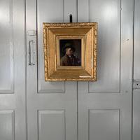 Antique Dutch Oil Painting Portrait of a man drinking ale