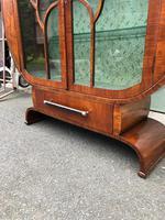Art Deco Walnut Display Cabinet (6 of 13)