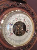 Antique Walnut 'Pendant' Small Banjo Barometer (4 of 8)