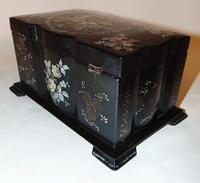 Victorian decorated papier mache tea caddy (4 of 6)