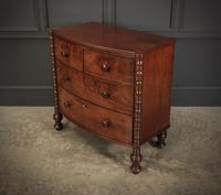 Small Regency Mahogany Bow Front Chest of Drawers (7 of 12)