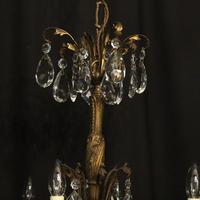 Italian 8 Light Gilded Bronze Antique Chandelier (8 of 10)