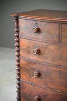 Victorian Mahogany Veneer Chest of Drawers (8 of 12)