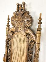 Large Carved Wooden Lion Throne Chair (7 of 10)