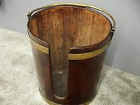 George III Mahogany & Brass Bound Plate Bucket (4 of 8)