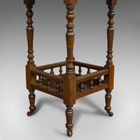 Antique Lamp Table, English, Walnut, Octagonal, Side, Games, Edwardian c.1910 (2 of 10)
