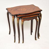 French Inlaid Rosewood Nest of Tables