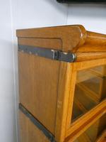 Set of Four Oak Globe Wernicke Bookcases (5 of 11)
