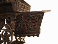 Antique Burmese Work Box - Desk Writing Table 1890 Hardwood (13 of 13)