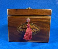 18th Century Mahogany  Shell Inlaid Tea Caddy (17 of 18)