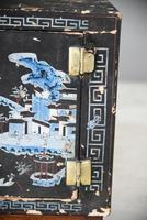 Pair of Small Black Chinese Painted Cabinet (12 of 12)