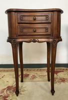 Vintage French Cherrywood Cabinets Kidney Shaped Bedside Tables (5 of 10)