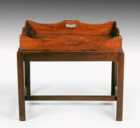 George III Period Mahogany Tray with a Shaped and Swept Border (5 of 5)