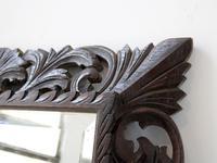 Late 19th Century Floral Fretwork Oak Mirror (5 of 5)
