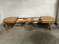 Huge Bleached Oak French Extending Dining Table (21 of 24)