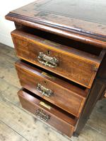 Edwardian Inlaid Mahogany Desk with Leather Top (10 of 11)
