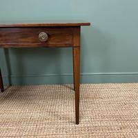 Fine Country Georgian Mahogany Antique Side / Writing Table (3 of 6)