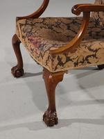 Substantial Early 20th Century  Gainsborough Style Mahogany Framed Armchair (6 of 6)