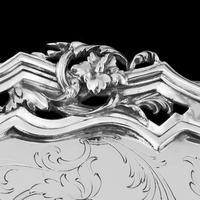 Exceptional Large Solid Sterling Silver Victorian Salver/tray/platter 47cm with Cast Border - Hunt & Roskell - Storr Mortimer & Hunt (15 of 29)