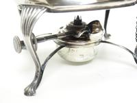 English Victorian Antique Solid Silver Spirit Kettle with Original Silver Burner c.1900 (9 of 9)