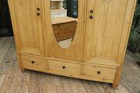 Huge! Old Pine Triple 'Knock Down' Combination Wardrobe - We Deliver! (6 of 21)