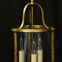 French Gilded Triple Light Antique Lantern (6 of 10)