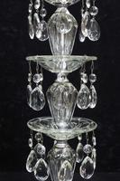 Pair of American Hollywood Regency Mid-Century Crystal Glass Lamps (6 of 9)