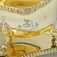 Fine Pair Of Edwardian Silver Gilt Sauce Boats (6 of 11)