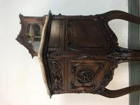 Antique French Walnut Bedside Cabinets Marble Tops & Mirrors Pot Cupboards (11 of 16)