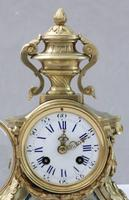 French Napoleon III Bronze Gilt and Sevre Panel Mantel Clock (6 of 7)