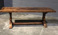 Wonderful French Chestnut Farmhouse Refectory Dining Table (27 of 37)