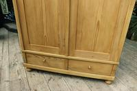 Quality! Large Old Pine Double 'Knock Down' Wardrobe - We Deliver! (7 of 17)