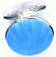 Beautiful Blue Guilloche Enamel Compact Mirror (7 of 9)