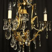French Gilded Birdcage Antique Chandelier (5 of 7)