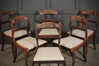 Set of 6 Regency Brass Inlaid Dining Chairs (7 of 16)