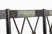 English 19th Century Regency Ebonised Cane Seat Sofa (6 of 8)