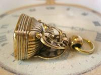 Antique Pocket Watch Chain Fob 1890s Victorian Large Gilt & Carnelian Samuel Fob (5 of 12)