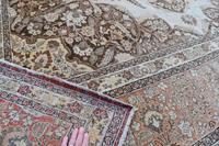 Fine Antique Tabriz Roomsized Carpet 382x285cm (8 of 9)