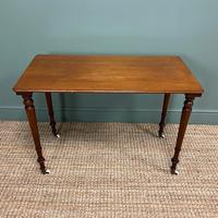Elegant Victorian Mahogany Antique Side Stretcher Table (5 of 7)