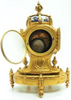 Antique 8 Day Ormolu Mantel Clock Sevres Gothic Knight Tower French Mantle Clock (7 of 8)