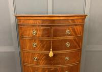 Flame Mahogany Bow Fronted Chest on Chest (3 of 14)