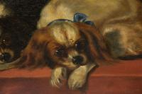 After Landseer - King Charles Spaniels - Oil on Canvas - Early 20thc (3 of 4)