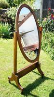 1930's Art Deco Oak  Cheval Mirror (2 of 18)
