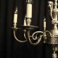 French Silver Gilded Cherub 8 Light Antique Chandelier (2 of 10)