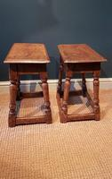 Matching Pair of Antique Oak Joint Stools (5 of 7)