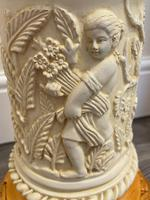 Dutch Golden Age Style Gilt Harvest Relief Plinth Display Torcheres (45 of 87)